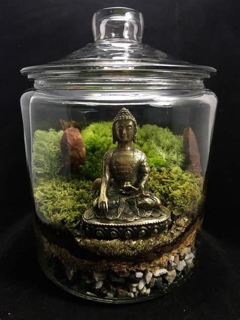 landscape buddha terrarium moss terrarium zen