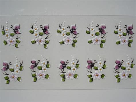 adesivos artesanais para unhas adesivo para unha artesanal borboletas z artes adesivos