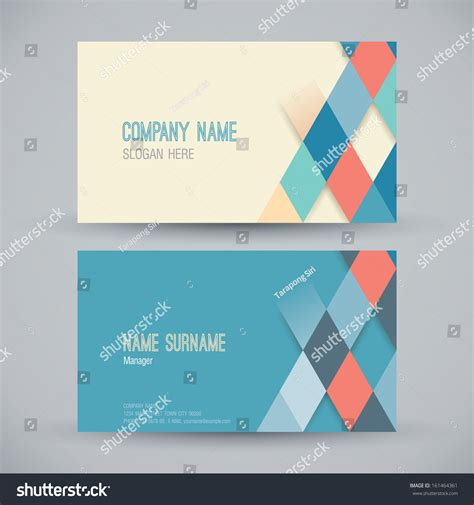 Name Card Design Template Business Card Stock Vector 161464361 Shutterstock Card Design Template