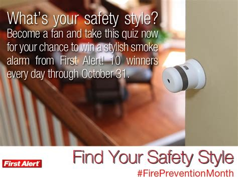 Sweepstakes Alerts - thanks mail carrier style your safety with first alert atom smoke fire alarm