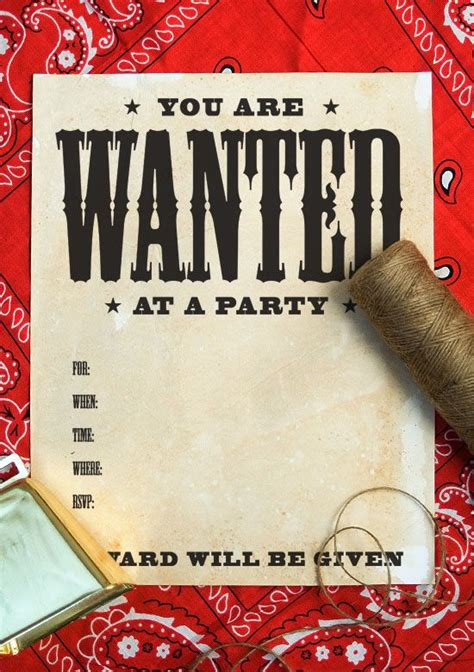 Free Printable Wanted Poster Invitation Tutorial For Aging Paper With Coffee Wanted Birthday Invitation Template