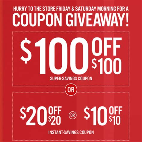 Jcpenney Gift Card Discount - jcpenney get a coupon for 10 off of 10 20 off of 20 or 100 off of 100