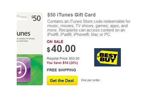 itunes cards deals