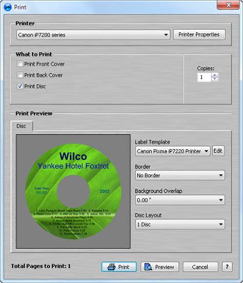 audiolabel cd printing software free download