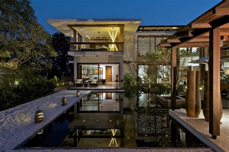 home courtyard timeless contemporary house in india with courtyard zen garden idesignarch interior design