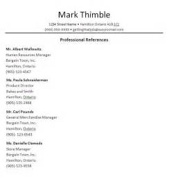 sle professional reference template getting