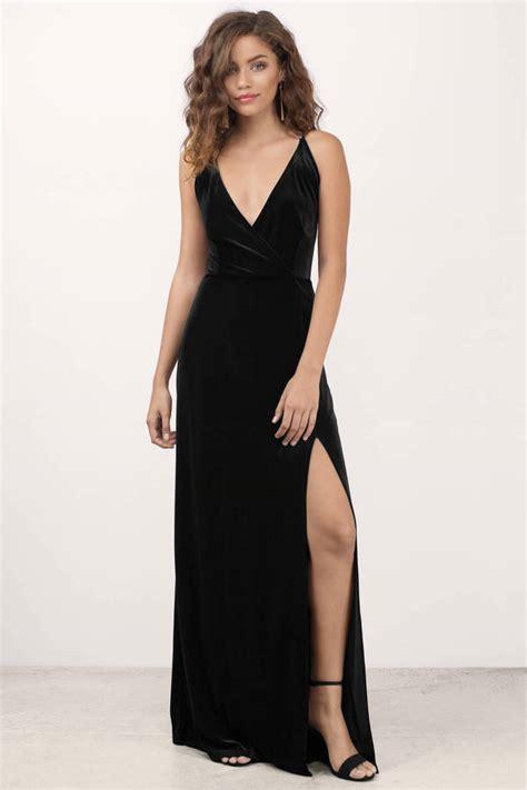 Dress Me Up In Velvet by Embrace Me Black Velvet Maxi Dress Tobi