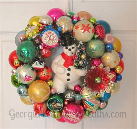 six christmas wreaths to inspire sweet pea 1000 images about vintage christmas ornament wreaths on
