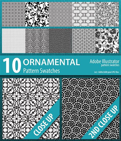 pattern ornamental illustrator 10 ornamental pattern swatches by doucettedesigns