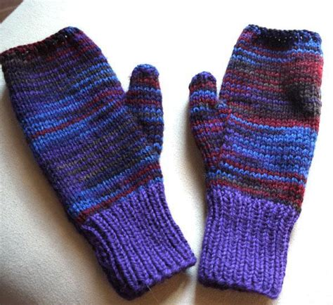 knitting patterns for mittens on four needles easy two needle fingerless mitts by mkaryl design craftsy