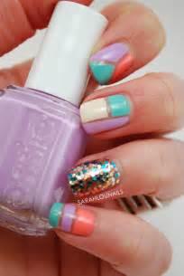 pastel color nails lou nails pastel color block nails