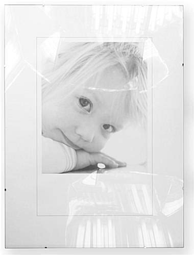 frameless 5 x 7 clip picture frame tempered glass these glass clip frames are inexpensive frameless sign