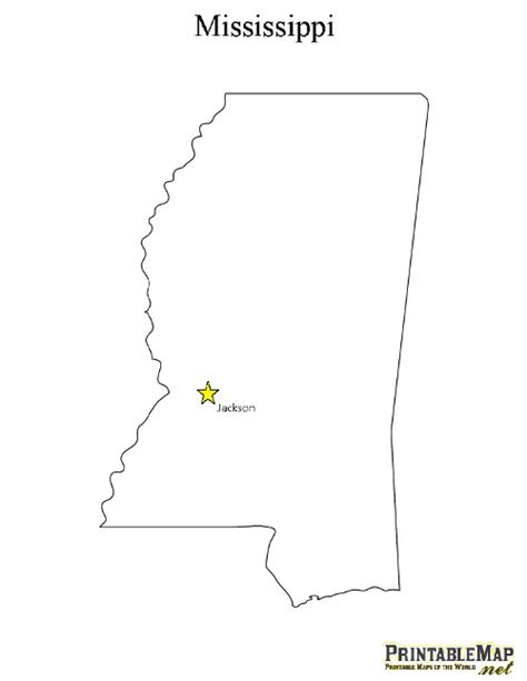 printable map mississippi print state capital map of mississippi