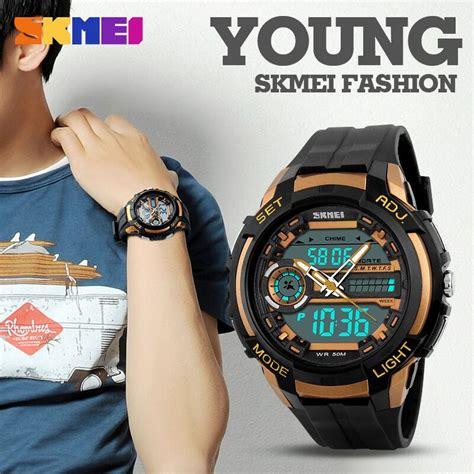 Jam Tangan Keren Skmei 1202 Original Water Resistant 50 Limited skmei jam tangan analog digital pria ad1202 titanium gray jakartanotebook