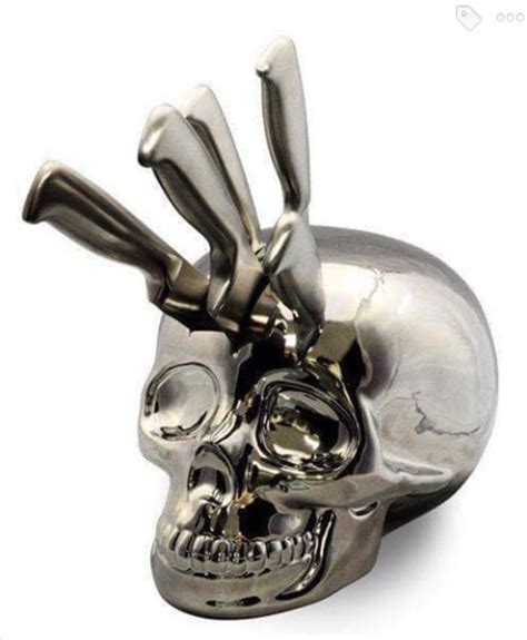 Skull Kitchen Accessories by Home Accessory Skull Knife Block Decor Skull Kitchen Knife Wheretoget