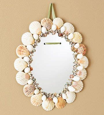 outstanding beachy bathroom diy shell mirror shell easy seashell crafts epoxy shell and strength