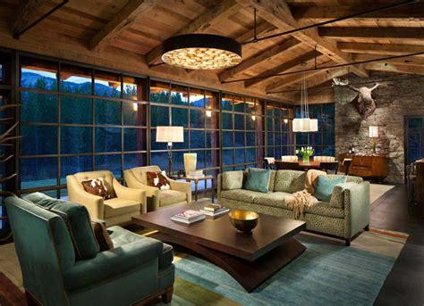 Incroyable Decoration Interieur Salon Sejour #2: chalet-de-vacances-decoration-rustique-design.jpg