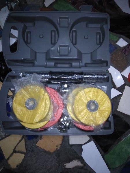 Jual Dumbbell Set 20 Kg jual beli rubber dumbbell by scuplture 20kg