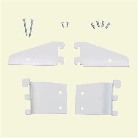 Closetmaid White Corner Shelf Unit Closetmaid Selectives 5 In White Shelftrack Bracket Kit