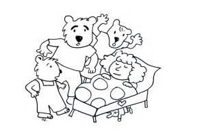 bears goldilocks coloring sheet coloring pages