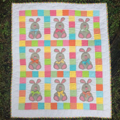 quilt pattern easter bunnies and bows pdf downloadable quilt pattern stitches