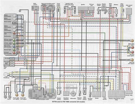 yamaha virago 250 wiring diagram yamaha virago 250 exhaust