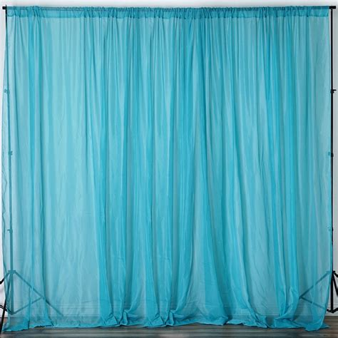 turquoise curtain rod 10ft x 10ft sheer organza curtain panel turquoise
