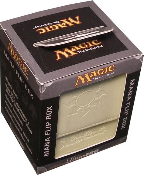 Ultra Pro Flip Box Water Magic For Of Will ultra pro mana flip deck box white potomac distribution