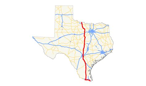 hwy map of texas u s route 281 in texas