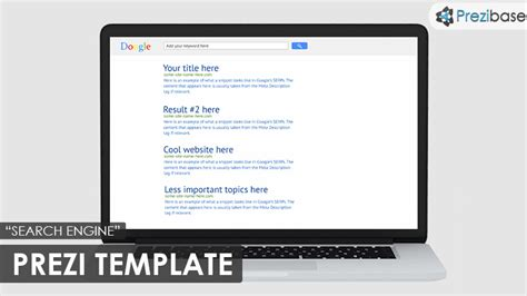 search template search engine prezi template prezibase