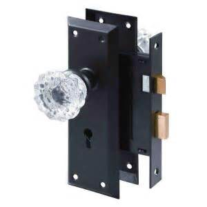 prime line classic bronze mortise lock set with glass
