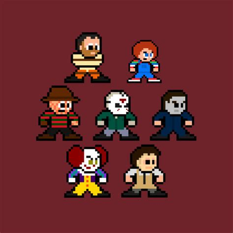 Anime 8 Bit Vs 10 Bit by 8 Bit Horror Icons Chucky T Shirt Teepublic