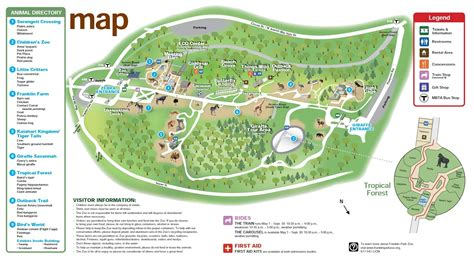 columbus zoo map zoos boston zoo