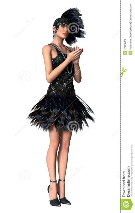 outfits for women in their 20s hairstylegalleries com roaring twenties stock illustration image 47506990