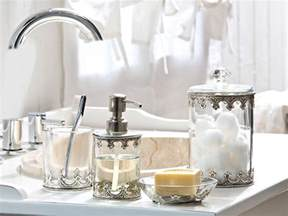 Beautiful Bathroom Accessories Clear Glass And Silver Bathroom Accessories For A Feel Make Your Bathroom A Spa