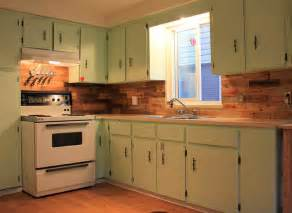 pallet backsplash kitchens galore green