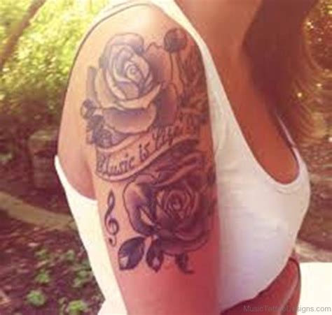 music notes with roses tattoo 50 outstanding tattoos