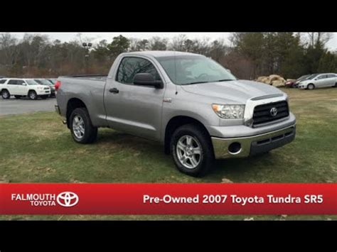 pre owned 2007 toyota tundra sr5 regular cab 4x4 for sale