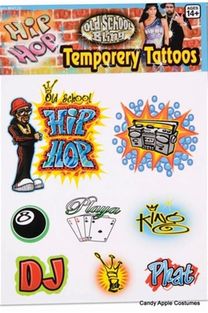 old school hip hop tattoo guys old school hip hop temporary tattoos candy apple
