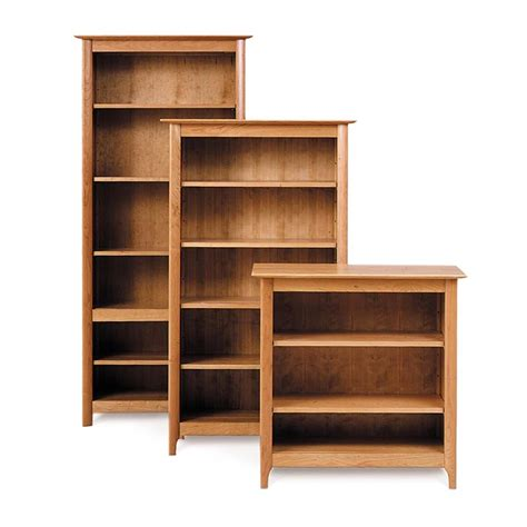 cherry wood bookcases for sale custom shaker cherry wood bookcases made in vt usa go