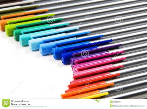 colorful pens colorful pens background stock photo image of image
