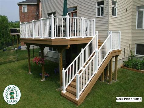 elevated deck designs with stairs elevated wood deck