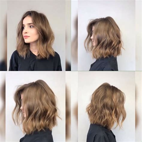 loosely layered deconstructed bob 2017 hairstyles perfect lob bob hair cuts color