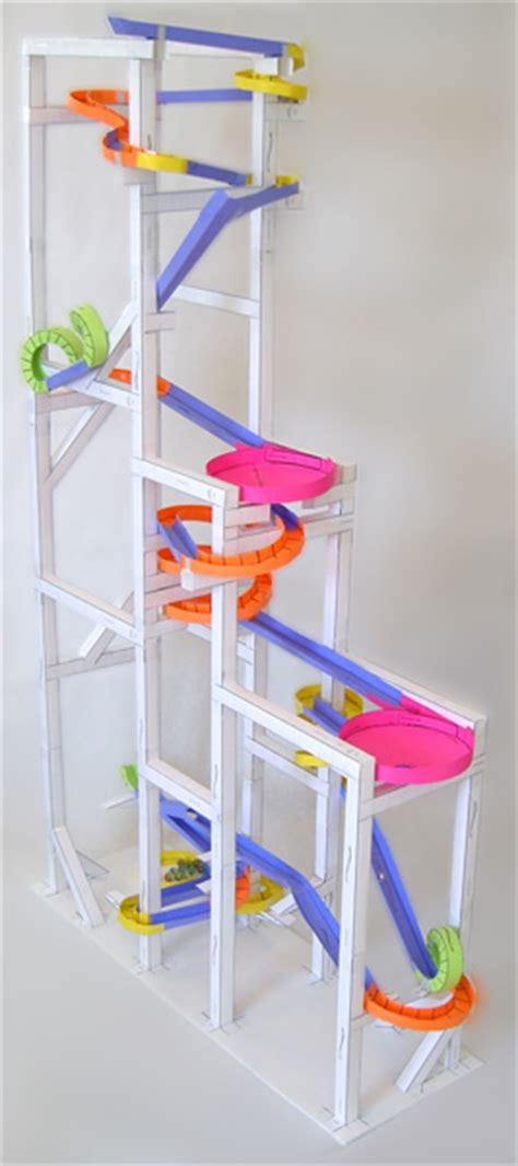 How To Make A Paper Marble Roller Coaster - paper roller coasters gallery the would