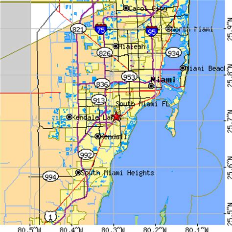 south florida zip code map south miami florida fl population data races