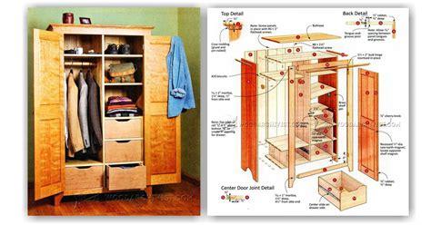 Bedroom Wardrobe Plans • WoodArchivist T 34 Blueprints