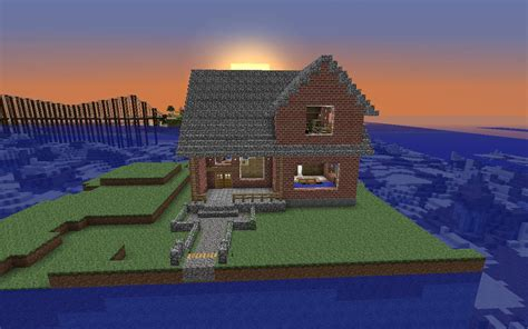 easy house in minecraft simple brick house minecraft project