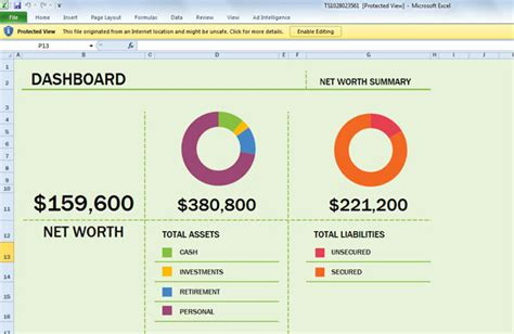 Excel Net Worth Template by Free Net Worth Spreadsheet Template For Excel 2013
