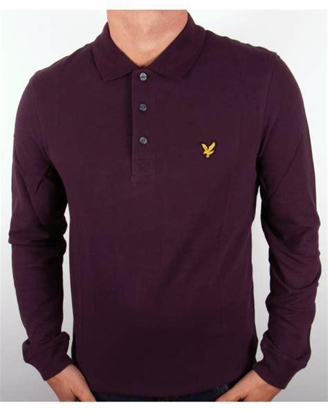 Plum Shirt lyle and sleeve polo shirt plum mens