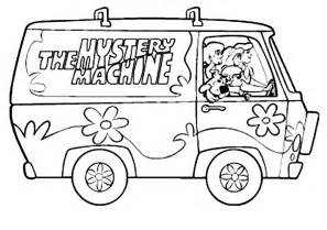 Mystery Machine Coloring Page mystery machine coloring pages coloring pages